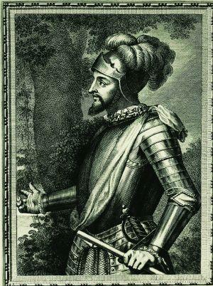 Un retrato del descubridor Vasco Núñez de Balboa.