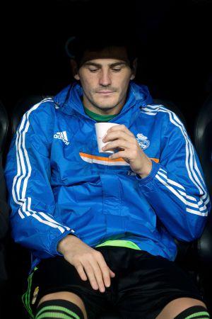Iker Casillas, en el banquillo del Real Madrid.