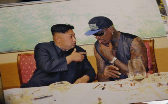 Kim Jong-un, con Dennis Rodman.