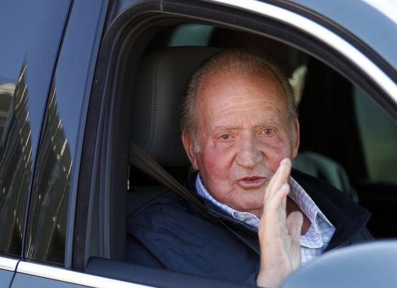 King Juan Carlos exits a Madrid hospital last week after undergoing yet more hip surgery.