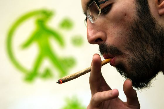 A member of one of Barcelona's cannabis clubs.
