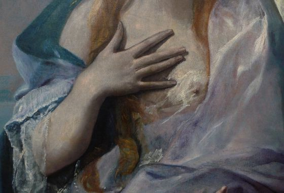 A detail from 'Saint Mary Magdalen,' painted in 1576.