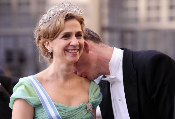 Princess Cristina and Iñaki Urdangarin at the wedding of Sweden's Crown Princess Victoria and Daniel Westling in 2010.