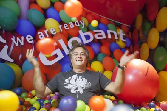 Guibert Englebienne, cofundador de Globant, en sus oficinas en Buenos Aires.