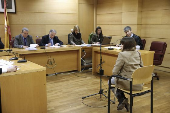 Alba González Camacho in court on Tuesday.