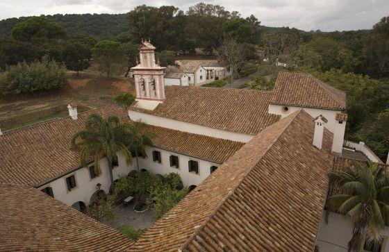 Hotel La Almoraima, located inside the Andalusian natural park.