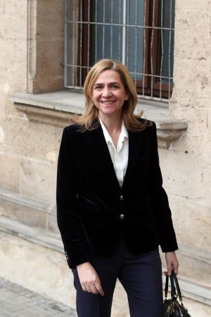 Princess Cristina arrives at the Palma de Mallorca courthouse on Saturday.