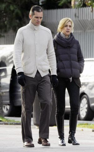 Cristina and Iñaki strolling in 2012.