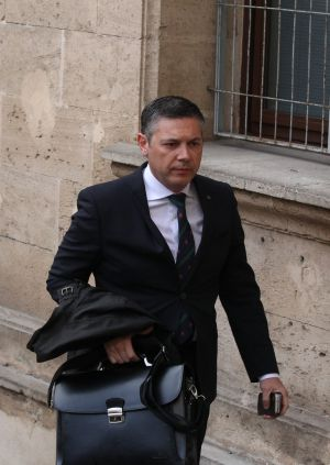 Lawyer Francisco José Carvajal Jiménez arriving at the Palma de mallorca courthouse for Princess Cristina's testimony.