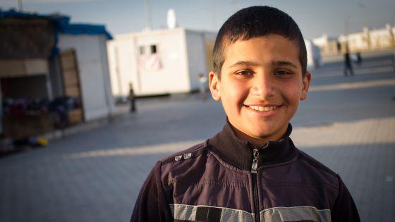 Mohamed, de 15 años, pasó uno entero en Siria sin poder ir al colegio.