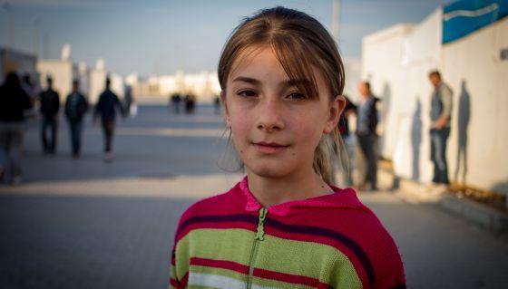 Rasha, de 12 años y de Alepo,dice haber olvidado lo que vivió durante la guerra.