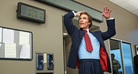 El actor en 'El lobo de Wall Street', dirigida por Martin Scorsese. Su precalentamiento antes de actuar acabó formando parte de la película.