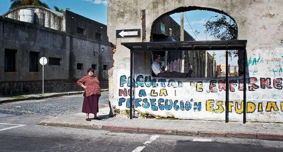 Una escena en Montevideo, capital uruguaya.