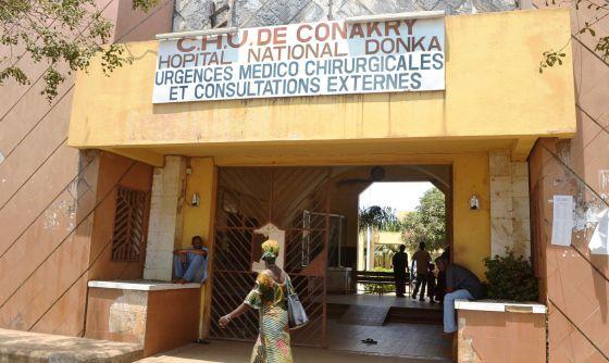 Un hospital de Conakry (Guinea) donde se han registrado cuatro casos de virus Ébola.rn