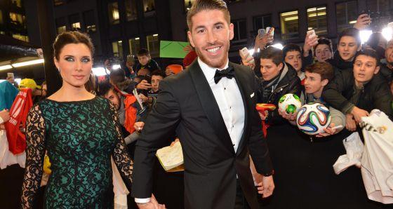 Sergio Ramos y Pilar Rubio, en la gala de FIFA.