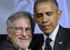 Obama compartilha jantar e risadas com Spielberg e Springsteen