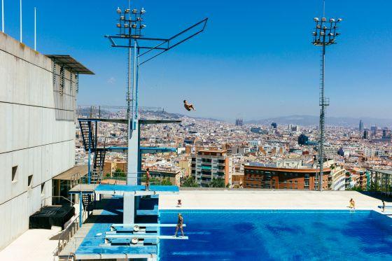 As est n hoy las instalaciones ol mpicas del pasado for Piscina olimpica barcelona