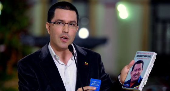Jorge Arreaza on Monday in Caracas.