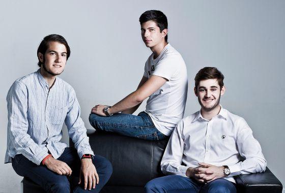 De izquierda a derecha: Luis Iván Cuende, Javier Agüera y Néstor Palao.
