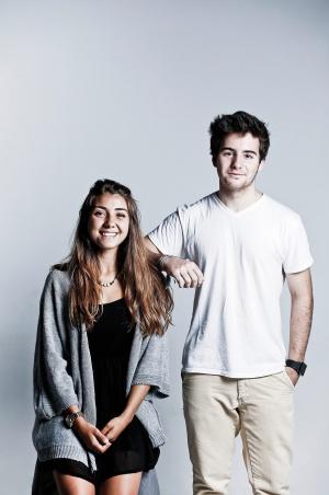 María Pozo (Proyecto Goliat) y Carlos Ballesteros (Wayder). Ambos desarrollan sus proyectos gracias a la iniciativa Think Big, de la Fundación Telefónica.