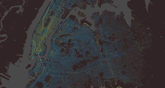 Imagen de los 150 millones de carreras anuales de los taxis de Nueva York.