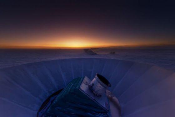 El telescopio BICEP2, en el Polo Sur.
