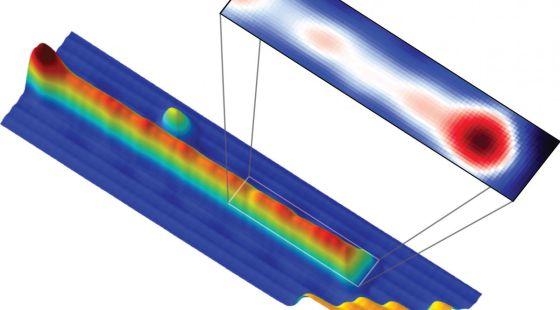 Imagen de microscopio del material observado con las nuevas partículas observadas