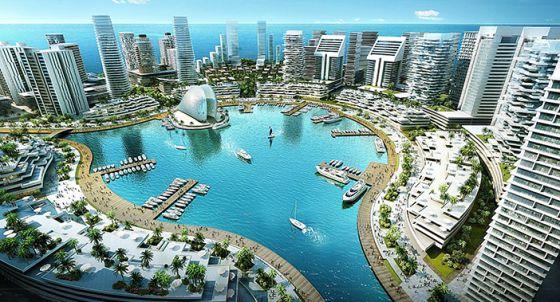 Imagen de cómo será, cuando se construya, Eko Atlantic City.