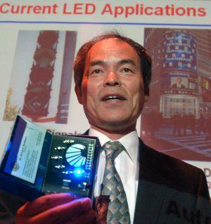 Imagen de archivo de Shuji Nakamura, uno de los ganadores del premio Nobel de Física por la invención de las bombillas LED.