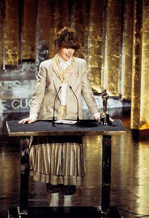 Keaton en 1978, cuando recogió el Oscar a la mejor actriz.