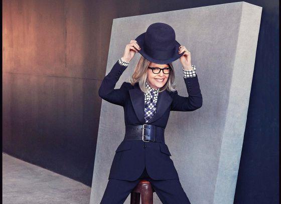 Diane Keaton, con 68 años, en Nueva York.