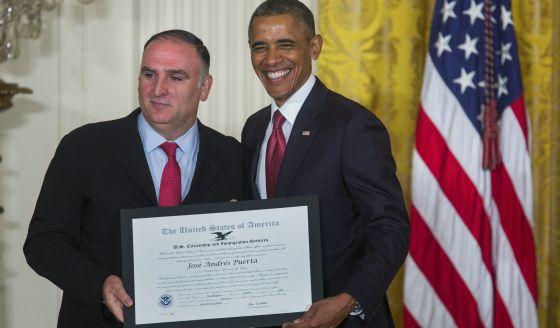 José Andrés, con Barack Obama.