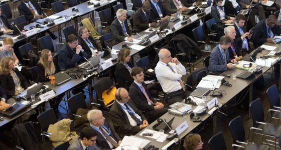 Delegados durante las sesiones del IPCC, en Copenhague de este fin de semana.