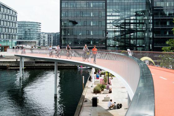 El carril Cycle Snake está en Copenhague