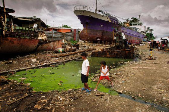 Tacloban, capital económica de la isla de Leyte, en Filipinas