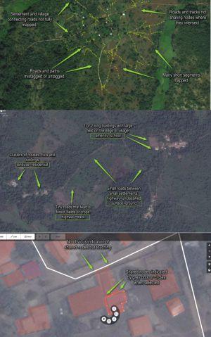 Mosaico de viñetas tutoriales de HOT que explican a nivel de un usuario corriente cómo contribuir a mapear el ébola.