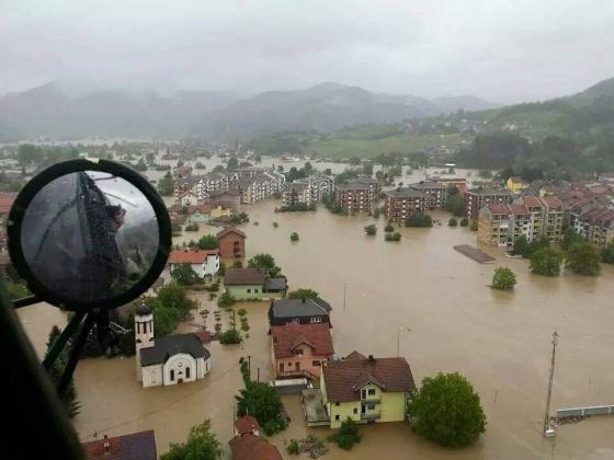 Inundaciones en Maglaj (Bosnia) en mayo.