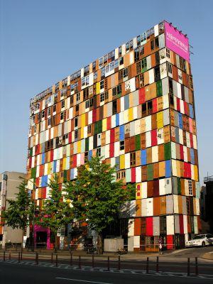 Edificio 1000 Doors, en Seúl. Una instalación de Choi Jeong-Hwa.