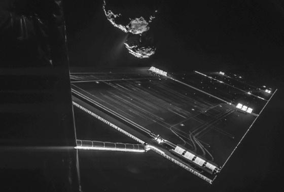 Un 'selfie' de la nave Rosetta a 16 kilómetros del cometa 67P.