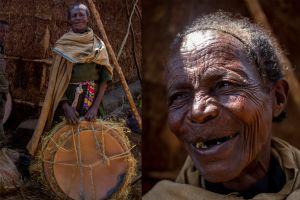 El rostro arrugado de Tigist le hace parecer una anciana, pero acaba de sobrepasar los 50. Las mujeres en Etiopía, sobre todo en el campo, suelen trabajar entre 15 y 18 horas.