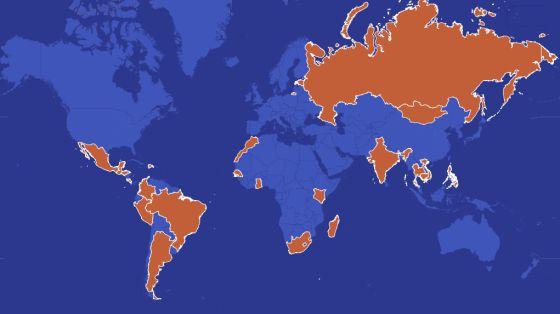 Mapa del turismo sexual en el mundo. Haga click en la imagen para acceder al gráfico interactivo.