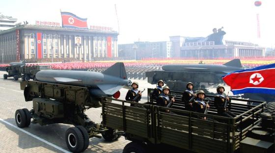 Desfile de armamento en Pyongyang (Corea del Norte) en 2012.