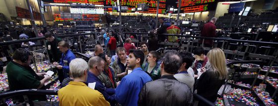 Parqué de la Bolsa de Chicago donde se ubica el mercado de futuros, en diciembre de 2013.