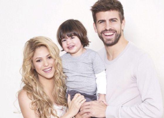 Shakira, Piqué y su hijo mayor, Milan