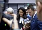 Amal Clooney acapara las miradas en el tribunal de Estrasburgo