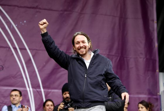 Podemos leader Pablo Iglesias is enjoying a surge in popularity.