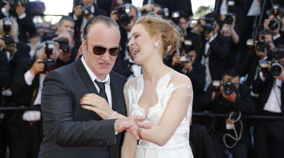 Quentin Tarantino y Uma Thurman, el pasado mayo en el festival de Cannes.