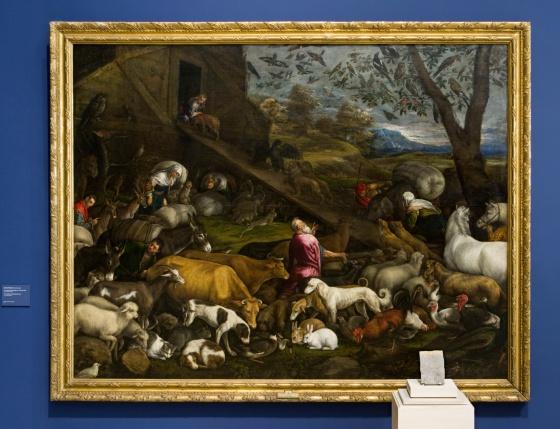 'Entrada de los animales en el arca de Noé', por Jacopo Bassano (1570)