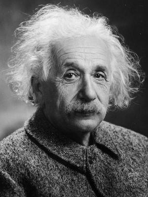 Albert Einstein, cuando ya era un famoso físico en EE UU.