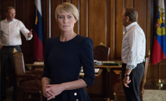 Robin Wright, en un capítulo de 'House of cards'